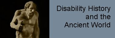 Disability History and the Ancient World Studies